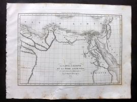 Barthelemy 1824 Map. La Libya, L'Egypte, et la Syrie Anciennes. North Africa